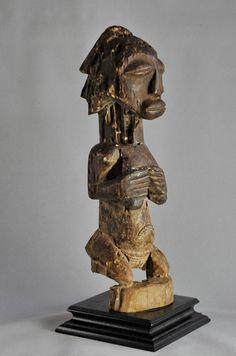 Ancienne Statue Ancetre Luba Shankadi Congo Tribal ART Africain Ancestor Figure…
