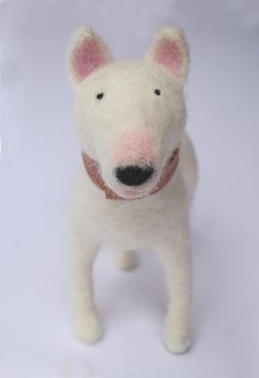 Bull Terrier Dog Sculpture via Etsy. Laura Lee Burch