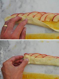 flower rolls - use GF pastry