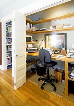Fancy Ideas For A Multipurpose Office Space With Grey White Wall Wooden Table Black Desk Lamps Wooden Storage White Door Wooden Floor