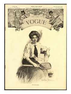 vogue cover - #vintage #tennis #illustration Posted on ohmyweddingplanners.blogspot.com.es