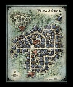 Village of Barovia Map Mike Schley town city m. - D&D Village of Barovia Map Mike Schley town city m. -D&D Village of Barovia Map Mike Schley town city m. - D&D Village of Barovia Map Mike Schley town city m. Fantasy City Map, Fantasy Village, Fantasy Town, Fantasy World Map, Dark Fantasy, Plan Ville, Village Map, Rpg Map, Dungeon Maps