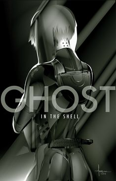 """Orlando Arocena Pays Homage To Masamune Shirow With A Stunning Tribute To """"Ghost In The Shell"""" Anime Ghost, Sci Fi Anime, Manga Anime, Anime Art, Design Graphique, Art Graphique, Full Metal Alchemist, Teen Titans, Science Fiction"""