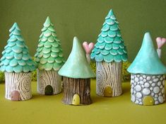 120 easy to try diy polymer clay fairy garden ideas (99) I need to see what this polymer clay is. -TRP