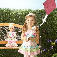 Your little lady is never lonely with her best pal Dolly around! And what can be more fun than dressing up to match your bestie? We have searched near and far for all the best apparel and accessories to wrap girly girls and their mini-me chums in adorable sweetness. Sparkling necklaces, personalized pieces and everything in-between are here and ready for a playdate.  shop dolls & accessories
