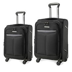 Luggage Sets Collections | Unitravel Luggage 19 and 24 inch 2 Piece Expandable Spinner Suitcase Set 1924 black -- See this great product. Note:It is Affiliate Link to Amazon.