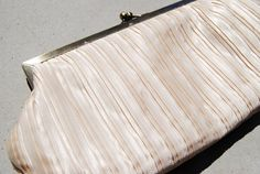 Champagne Clutch Purse / Pearl / Ritzy / by VintageLightning, $12.00
