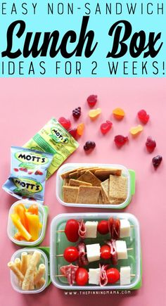 Healthy Meals For Kids Pizza Kabobs lunch box idea for kids! Just one of 2 weeks worth of non-sandwich school lunch ideas that are fun, healthy, and easy to make! Grab your lunch bag or bento box and get started! Non Sandwich Lunches, Lunch Snacks, Pizza Sandwich, Healthy Meals For Kids, Kids Meals, Healthy Drinks, Easy Lunch Boxes, Lunch Ideas, Mozzarella