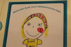 Piirustuspohja: Minä olen hyvä | Neuvokas perhe Social Skills, Positivity, Science, Teaching, Children, School, Young Children, Boys, Child