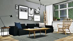 Scandinavian Living #4 • Simple Rustic End Table ( 4 Swatches ) • Moderne Coffee Table ( 5 Swatches ) • 5 Meshes Modern Modular Sofa ( 5 Swatches ) Download: Simfileshare ( 21MB ) Credits: MS91 Design, Awesims and Nicky Esatto