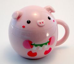 Plastic Piggy Cup with Lid