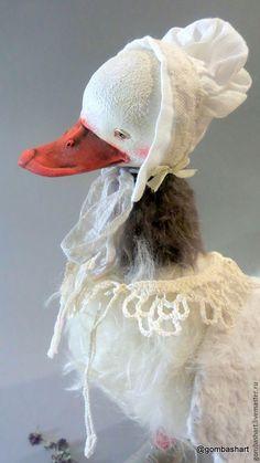 Купить Утка Серая шейка - белый, птица, птица счастья, купить тедди, тедди назаказ