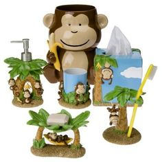 Genial Monkey Bath Stuff... Was Going To Do This For My Bathroom But I