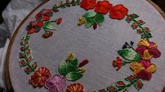 Ribbon embroidery stitches by hand tutorial. Ribbon embroidery designs. - YouTube