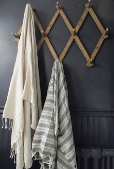 towel rack in laundry room