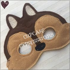 Dress Up Play Mask Chipmunk Kids Costume by CupcakeExpresssions