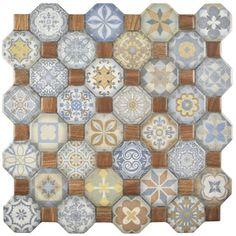 SomerTile Tesseract White Ceramic Floor and Wall Tile (Case of 13)   Overstock.com Shopping - The Best Deals on Floor Tiles