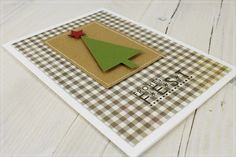 christmas tree card - elegant stylish - clean and simple - Weihnachtsinspiration No. 26...........