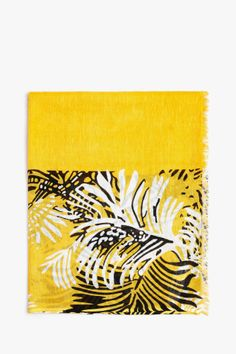 Tropical Pattern Scarf - tropical minimalism   Adolfo Dominguez