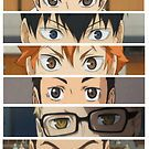 Karasuno Eyes by Angela Luo