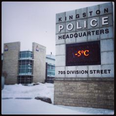 Snowy day at the station Snowy Day, Police Station, Kingston, Planets, Cinema, Street, Movies, Walkway, Movie Theater