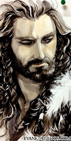 "gorgeous piece of art with thorin oakenshield from ""the hobbit"""