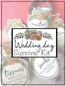 """Creative """"Try""""als: Wedding Day Survival Kit - Wedding Shower Gift Idea Best Friend Wedding Gifts, Diy Best Friend Gifts, Creative Wedding Gifts, Diy Wedding Gifts, Wedding Shower Gifts, Wedding Ideas, Wedding Stuff, Bride Kit, Wedding Survival Kits"""