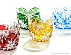 For the connoisseur, or indeed anyone with an interest in Sake, the Kittatehai (S) is a shot glass in a range of colors featuring the outstanding craftsmanship of HORIGUCHI GLASS. Japanese Gifts, Japanese Sake, Glass Ceramic, Faceted Glass, Japanese Handicrafts, Glass Artwork, Drinking Glass, Glass Collection, Cut Glass
