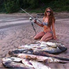 Relaxing Things To Do, Fishing Photos, Bowfishing, Gone Fishing, Big Fish, Bikinis, Swimwear, Women, Pictures