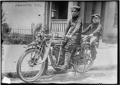 Louis Abernathy and Temple Abernathy (1904-1986) were children from Oklahoma who without adult supervision took several cross-country trips. On one trip they rode their motorcycle from Oklahoma to Manhattan in 1910 when they were 10 and 6 years old.  (Wikipedia)