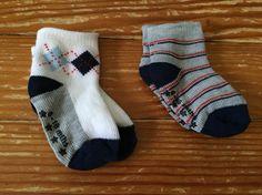 6-18 months argyle socks & grey striped socks