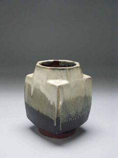 Shoji Hamada by American Museum of Ceramic Art click the image or link for more info. Japanese Ceramics, Japanese Pottery, Modern Ceramics, Contemporary Ceramics, Slab Pottery, Pottery Vase, Ceramic Pottery, Thrown Pottery, Glass Ceramic