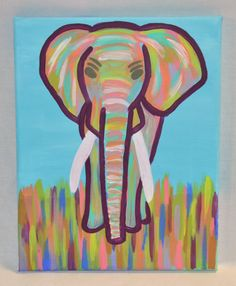 Hey, I found this really awesome Etsy listing at https://www.etsy.com/listing/175463615/abstract-elephant-painting