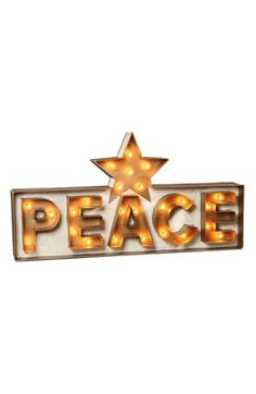 Bethany Lowe Designs 'Peace' Marquee Sign available at #Nordstrom