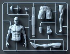 For Men's Health Magazine. Label Design, 3d Design, Creative Design, Graphic Design, 3d Printer Designs, Character Modeling, Plastic Models, Installation Art, Body Types