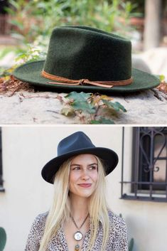 The Rory by Wyeth is a classic mid brim tear drop fedora with a genuine leather double wrapped rope with a simple knot. #hats #hatsforwomen
