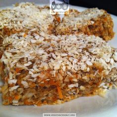 RAW Carrot Coconut Protein Bars-made with carrot pulp from juicing...YUM