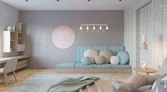 Kinderzimmer in Pastellfarben Rosa Lila