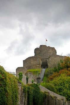 Launceston Castle in Cornwall, UK