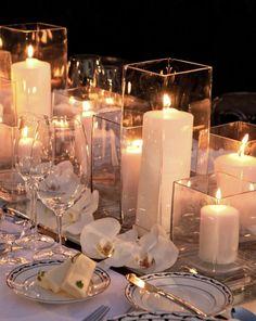 simple candle wedding centerpiece