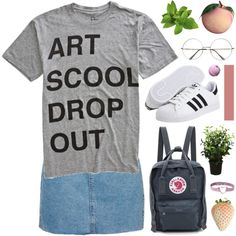Would you please have mercy on me? by novalikarida on Polyvore featuring COPY, Topshop, adidas Originals, Fjällräven and Brucs