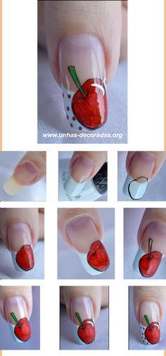Cherry Nail Art Tutorial
