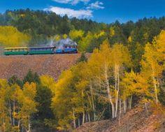 Cripple Creek & Victor Narrow Gauge Railroad, photo courtesy of Rosalyn Otsuka Living In Colorado Springs, Colorado Homes, Colorado Mountains, Rocky Mountains, Cripple Creek Colorado, Union Pacific Railroad, Mountain States, Pikes Peak, Train Rides