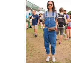 Governors Ball 2012 on Randall's Island - laid back look with rolled up overalls & LV fanny pack!