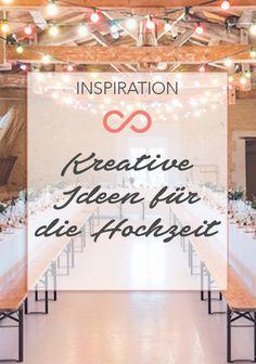 Wer eine Hochzeitsfeier plant, ist immer auf der Suche nach kreativen Ideen. Ob Candybar, Signature Drink oder originelle Geschenke für die Gäste: Wir haben 10 kreative Ideen für die Hochzeit. #hochzeit #heirat #heiraten #ideen #kreativ