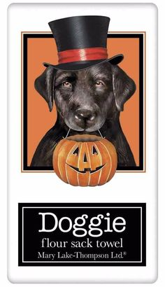 Halloween Mary Lake Thompson Dog Flour Sack Dish Towels – For the Love Of Dogs - Shopping for a Cause www.aloveofdogs.com