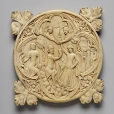 Mirror case with love-scene in a garden- France, late 14th century ?