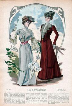 August 1, 1901 Fashion Plate ~ La Estacion