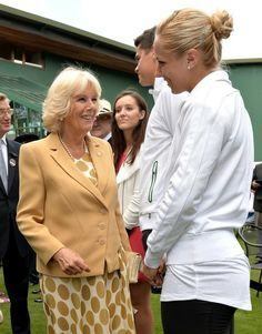 Camilla Parker Bowles visits the All England Lawn Tennis and Croquet Club during the Wimbledon Championships.