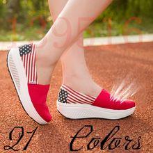 Nuevo bloque de Color 2015 peso ligero Comfortabale de mujer calidad superior zapatos de lona mujer de cuña de la plataforma ocasional(China (Mainland))